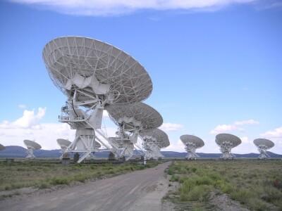 Radioteleskopy observatoře VLA (Very Large Array) v Novém Mexiku